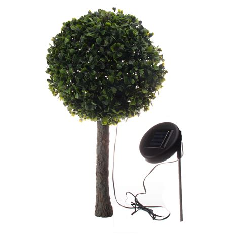 solar outdoor garden 10 led topiary decorative tree accent