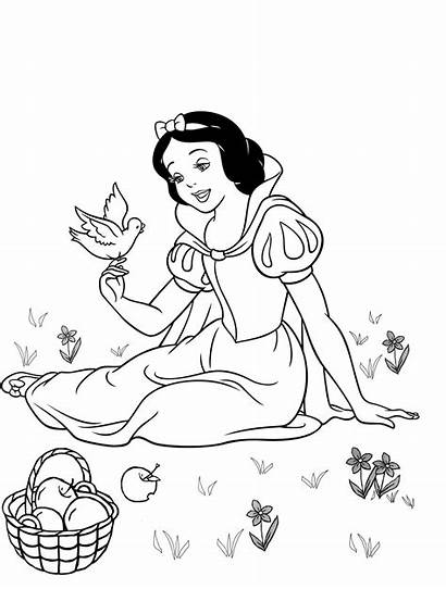 Snow Coloring Disney Princess Outline Clipart Library