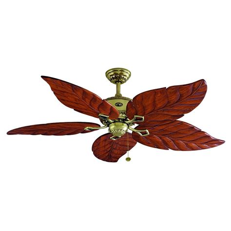 hton bay ceiling fan carved wood leaf blade ebay