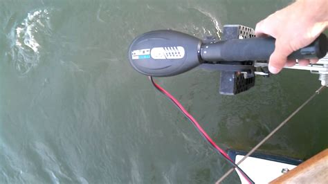 Sailboat With Motor by Sailboat Sailboat Electric Trolling Motor Test Youtube
