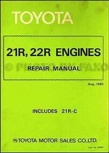 1981 Toyota Corona And Pickup 21r 22r Engine Repair Shop