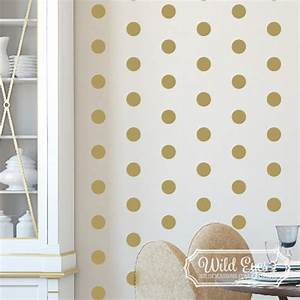 Polka circles wall decor : Polka dot circles vinyl wall decal nursery toddler room
