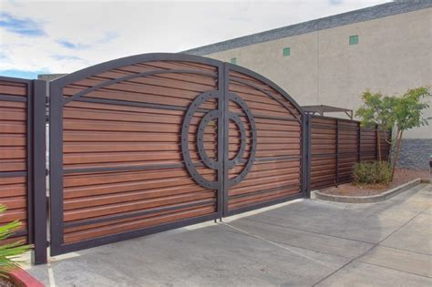 modern iron gate by impression security doors
