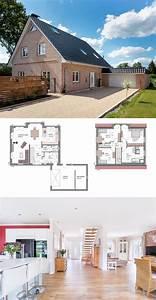 Einfamilienhaus Mit Garage : einfamilienhaus mit garage satteldach klinker fassade im landhausstil massivhaus bauen ~ Eleganceandgraceweddings.com Haus und Dekorationen