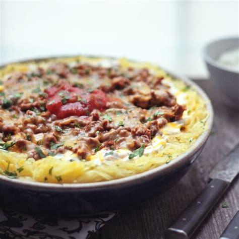Macaroni, cooked 5 minutes 1 c. Cheesy Chili Spaghetti Squash Casserole - Low Carb & Gluten Free | Recipe | Recipes, Squash ...