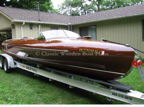 Italian Wooden Boat Plans by Classic Wooden Boat Plans 187 Gravette Streamliner