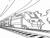 Coloring Train Pages Tunnels Thomas Template sketch template