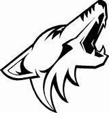 Coyotes Phoenix Nhl Coyote Hockey Coloring Teams Decals Arizona Ice Animals Windows Vinyl Printable Pacific Sticker Western Drawings Drawing sketch template