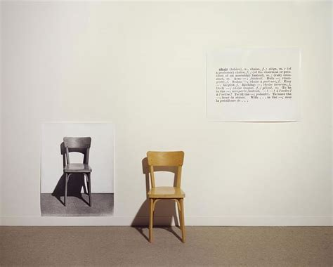 Joseph Kosuth One And Three Chairs by Geen Categorie Archives Au Pays Des Merveilles