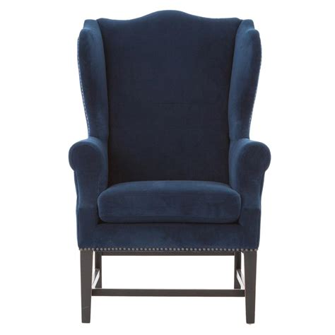 for the living room wall gracie deco royal blue velvet wing chair