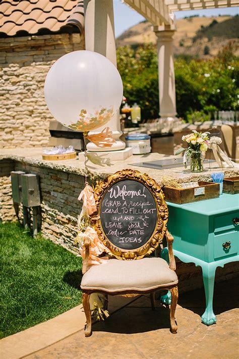 elegant vintage backyard bridal shower bridal shower