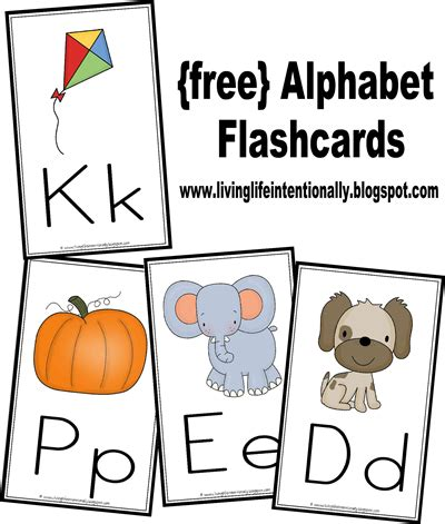 Free Alphabet Wallcards & Flashcards