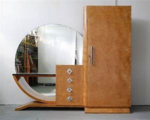 Meuble Art Deco Occasion : grande armoire coiffeuse art deco loupe d orme moderniste ancien meuble miroir art deco style ~ Teatrodelosmanantiales.com Idées de Décoration