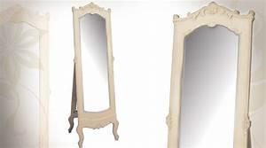 Miroir Sur Pied : miroir sur pied de style baroque patine cr me ~ Teatrodelosmanantiales.com Idées de Décoration
