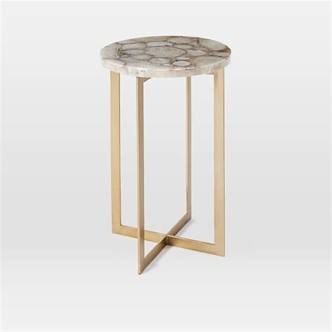west elm side table agate side table west elm