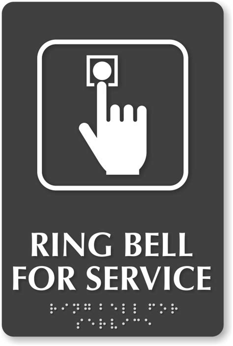 ring bell sign template templates data