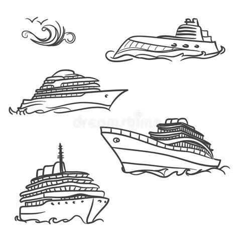 Dessin Bateau Yacht by Yacht Drawing Symbols Stock Vector Illustration Of Speed