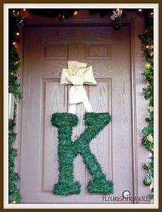 letter wreath i love christmas pinterest With letter a wreath