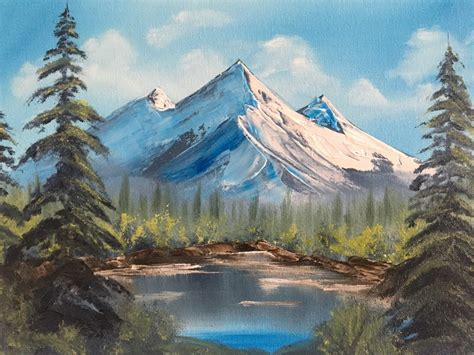 We Tried Our 1st Bob Ross Paint Class, Here's What