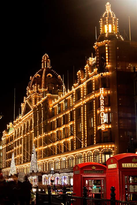 harrods switches on its christmas lights to kick off the