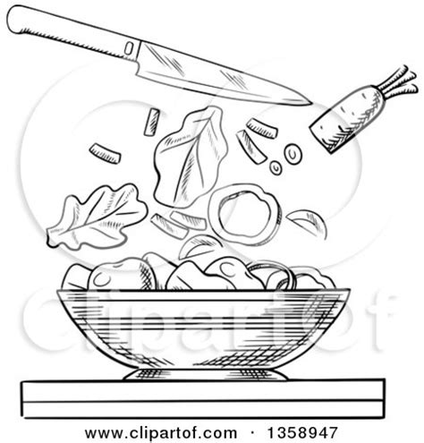 salad clipart black and white royalty free rf salad clipart illustrations vector