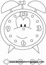 Clock Coloring Printable Pages Learn sketch template