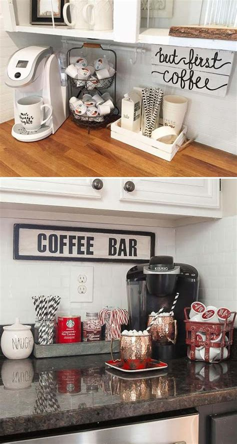 A diy coffee station is the perfect way to start your day. 15+ Cool DIY Coffee Station Ideas