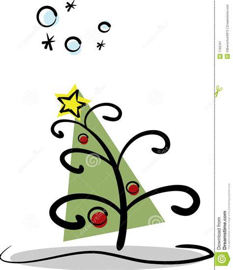 moderner weihnachtsbaum stockbild bild 7193101