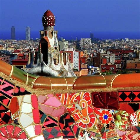 Park Guell Barcelona tile mosaic Photograph by Mona Edulesco