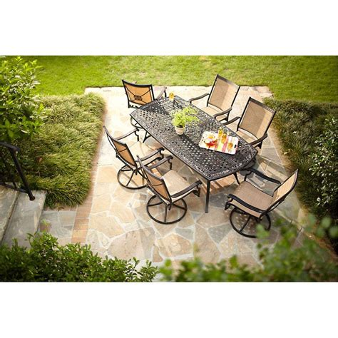 hton bay solana bay 7 patio dining set shop