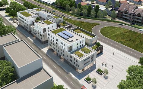 bureau de poste viry chatillon espace social logements bureaux bellecour architectes