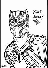 Panther Drawing Line Sketch Getdrawings sketch template