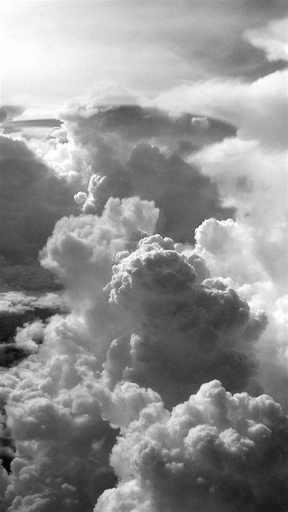 Aesthetic Grey Wallpapers Cloud Iphone Dark Sky