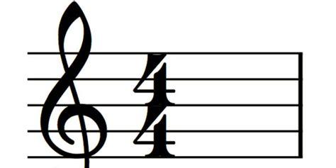 Music 4 4 Time Signature Symbols