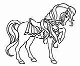 Horse Coloring Fun Printable sketch template