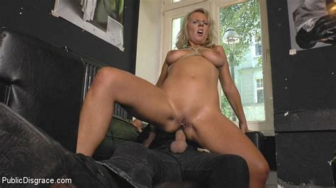 Luci Angel Blonde Submissive Bound And Put On Public