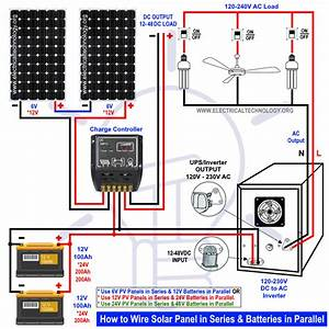 How To Wire Solar Panels In Series  U0026 Batteries In Parallel