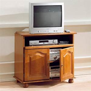 Meuble TV Cluzel 2 portes plateau pivotant