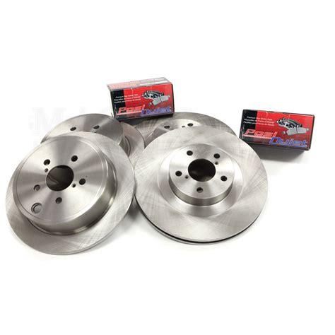 centric parts premium brake rotor with brake pad premium rotor kit 2008 2014 sti front rear basic