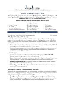 best resume format for marketing executive 10 marketing resume sles hiring managers will notice