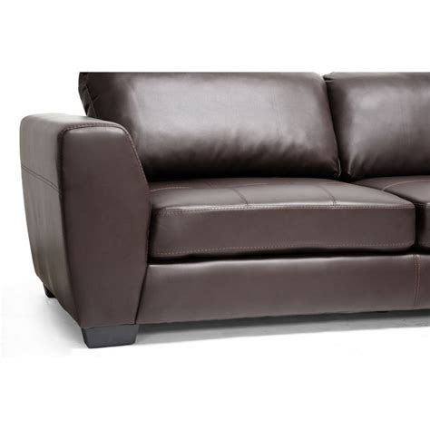 chaise com orland brown leather modern sectional sofa set with right