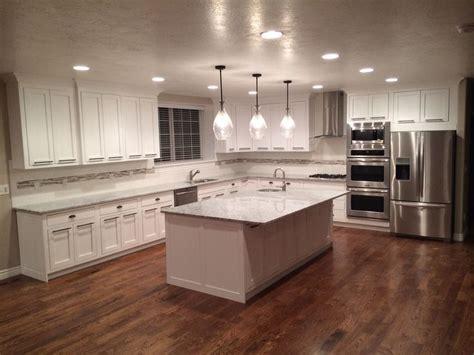 white cabinets hardwood floors home ideas