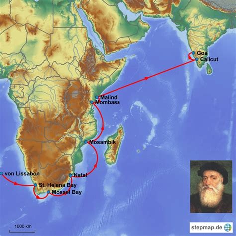 Route Vasco Da Gama by Vasco Da Gama Geosystemerde