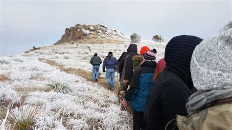 state weather parks texas mountains davis park responders snowy mountain icy hikers chilly didn taking stop let amazing them blast