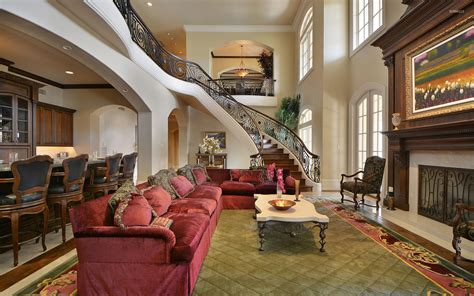 living room   mansion wallpaper photography