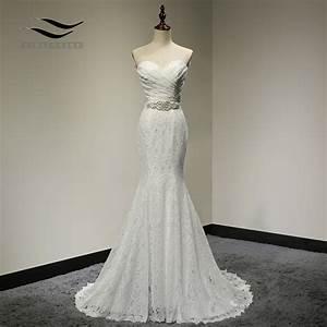 Bridal Wedding Gown Real Photos White Lace Cheap Mermaid