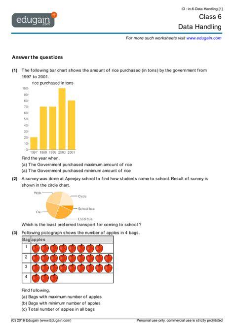 data handling worksheets grade    worksheet