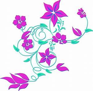 Best HD Purple Flower Border Clip Art Design » Free Vector ...