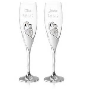 wedding toasting flutes personalized wedding chagne toasting flutes