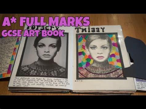 Gcse Unit Art Sketchbook Full Marks Youtube
